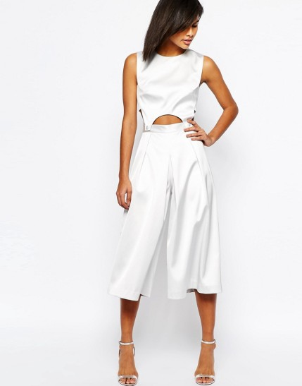 ASOS Premium Jumpsuit in Bonded Satin $62.50