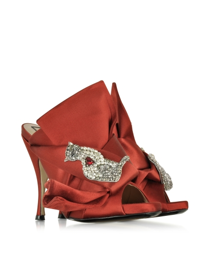 No 21 Satin Wrap High Heel Sandal