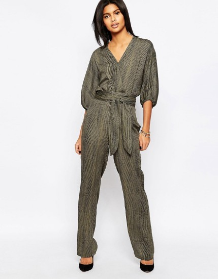 Pepe Jeans Donny Wrap Front Belted Jumpsuit $91, at asos.com
